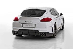 V-PT Edition Porsche Panamera by Vorsteiner Tuning Rear angle view