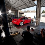 Chassis Dyno Test - 2011 Red Porsche 911 GT2 RS Side angle view