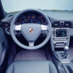 2006 Yellow Porsche 911 Carrera 4 Cabriolet Wallpaper Interior