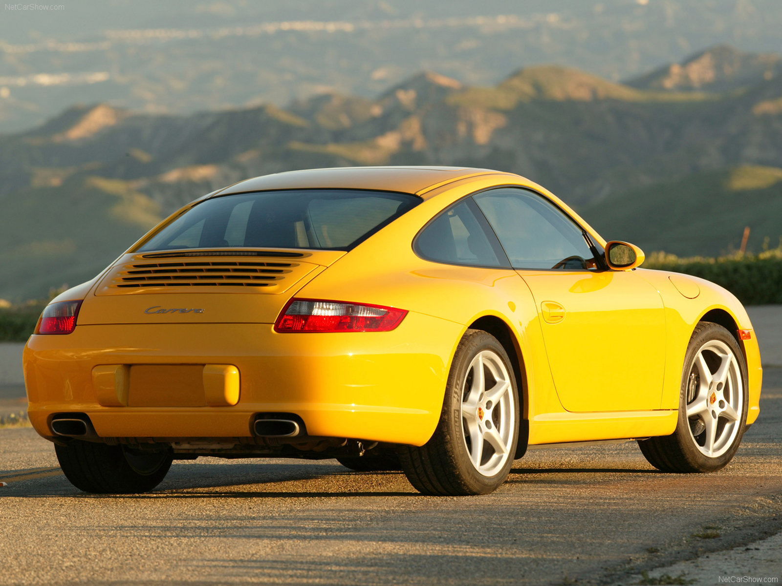 2006 Yellow Porsche 911 Carrera Coupe Wallpapers