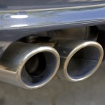 2007 Black Porsche 911 Carrera 4S Cabriolet Wallpaper Rear view Exhaust