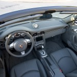 2007 Black Porsche 911 Carrera 4S Cabriolet Wallpaper Interior