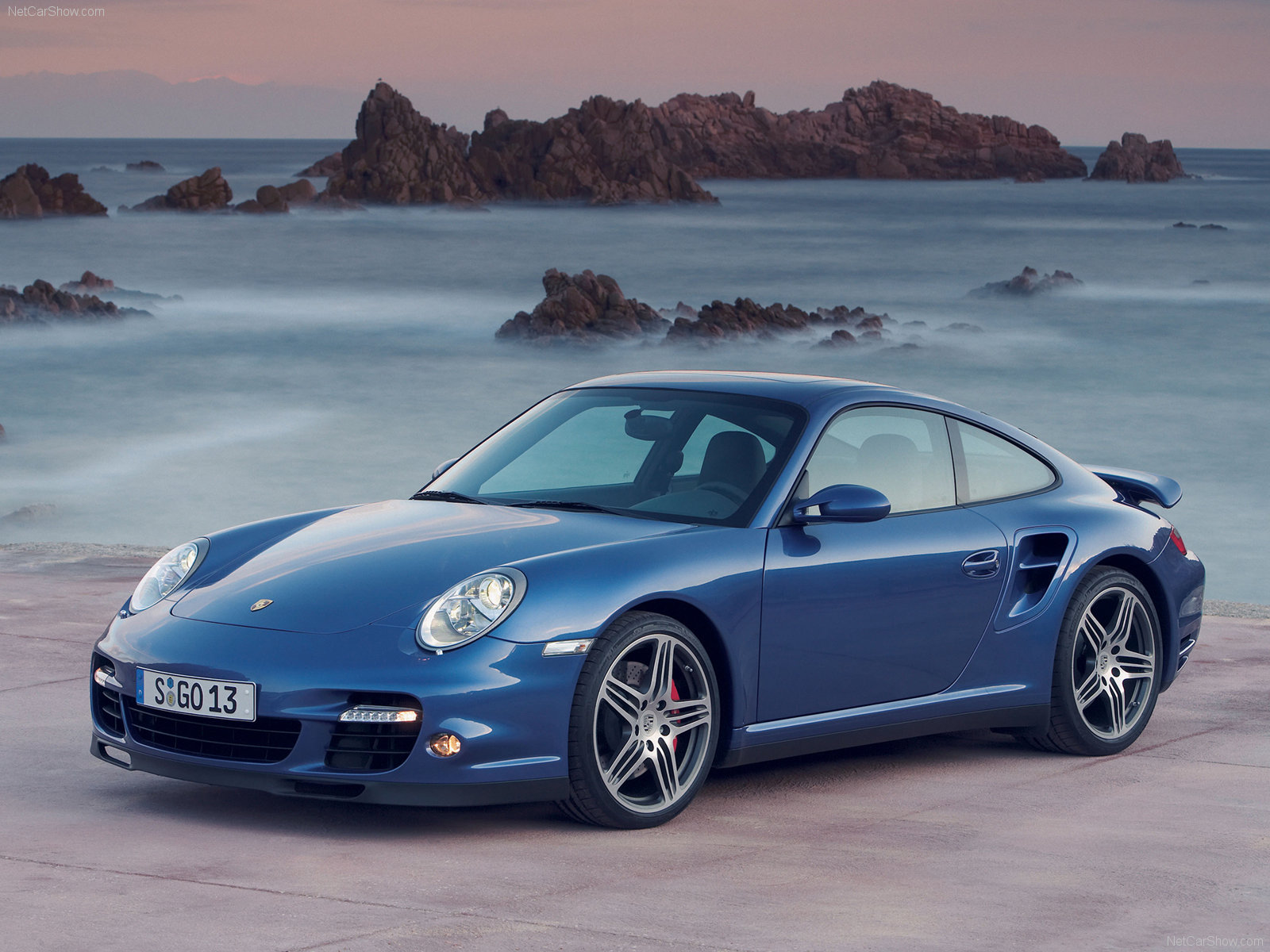 2007 Blue Porsche 911 Turbo Wallpapers