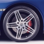2007 Blue Porsche 911 Turbo Wallpaper Side view Wheel