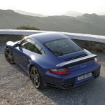 2007 Blue Porsche 911 Turbo Wallpaper Rear angle top view