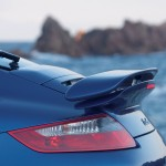 2007 Blue Porsche 911 Turbo Wallpaper Rear spoiler