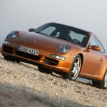 2007 Gold Porsche 911 Targa 4S Wallpaper Front angle side view