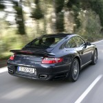 2007 Porsche 911 Turbo Wallpaper Rear angle side view