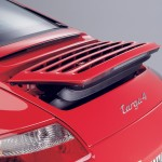 2007 Red Porsche 911 Targa 4 Wallpaper Rear angle view