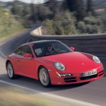 2007 Red Porsche 911 Targa 4 Wallpaper Front angle side view