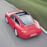 2007 Red Porsche 911 Targa 4 Wallpaper Rear angle top view