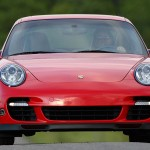 2007 Red Porsche 911 Turbo Wallpaper Front view