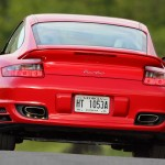 2007 Red Porsche 911 Turbo Wallpaper Rear view