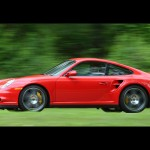 2007 Red Porsche 911 Turbo Wallpaper Side view