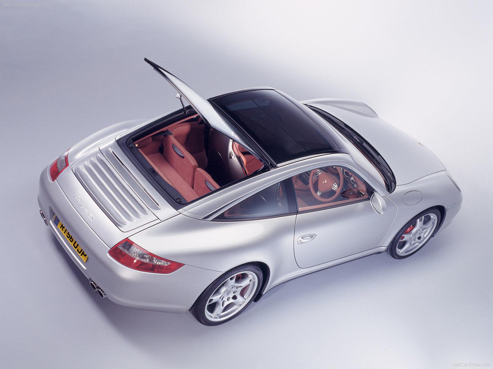 2007 Silver Porsche 911 Targa