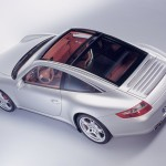 2007 Silver Porsche 911 Targa 4S Wallpaper Rear angle side top view