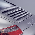 2007 Silver Porsche 911 Targa 4S Wallpaper Rear angle view