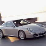 2007 Silver Porsche 911 Targa 4S Wallpaper Front angle side view