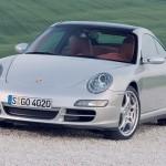 2007 Silver Porsche 911 Targa 4S Wallpaper Front angle view