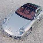 2007 Silver Porsche 911 Targa 4S Wallpaper Front angle Top view
