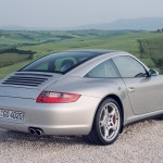 2007 Silver Porsche 911 Targa 4S Wallpaper Rear angle side view
