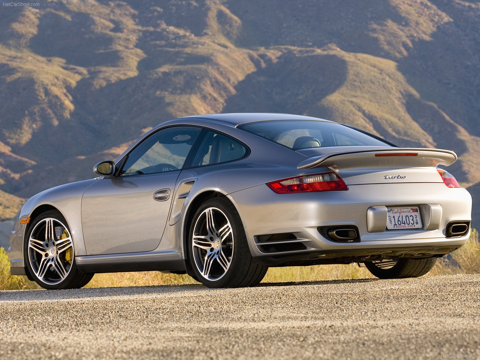 2007 Silver Porsche 911 Turbo Wallpapers