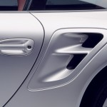 2007 Silver Porsche 911 Turbo Wallpaper Side view