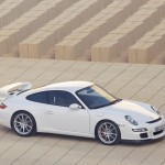 2007 White Porsche 911 GT3 Wallpaper Side angle view