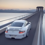 2007 White Porsche 911 GT3 Wallpaper Rear angle view