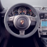 2007 White Porsche 911 GT3 Wallpaper Interior Steering wheel