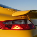 2007 Yellow Porsche 911 Turbo Wallpaper Rear view Light