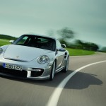 2008 Silver Porsche 911 GT2 Wallpaper Front angle view