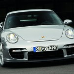2008 Silver Porsche 911 GT2 Wallpaper Front view