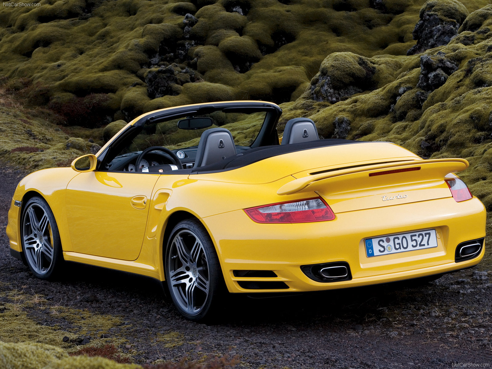 2008 yellow porsche 911 turbo cabriolet wallpapers. Black Bedroom Furniture Sets. Home Design Ideas