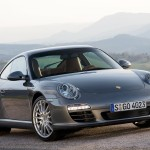 2009 Grey Porsche 911 Carrera 4 Wallpaper Front angle view