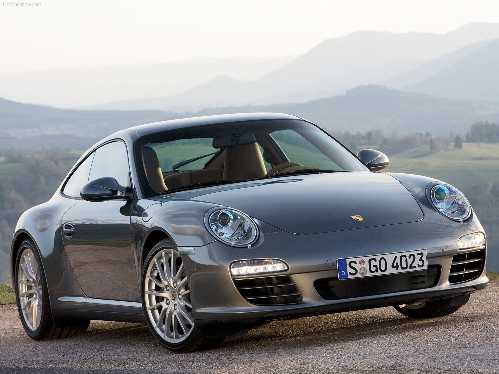 2009 grey porsche 911 carrera 4 wallpapers. Black Bedroom Furniture Sets. Home Design Ideas