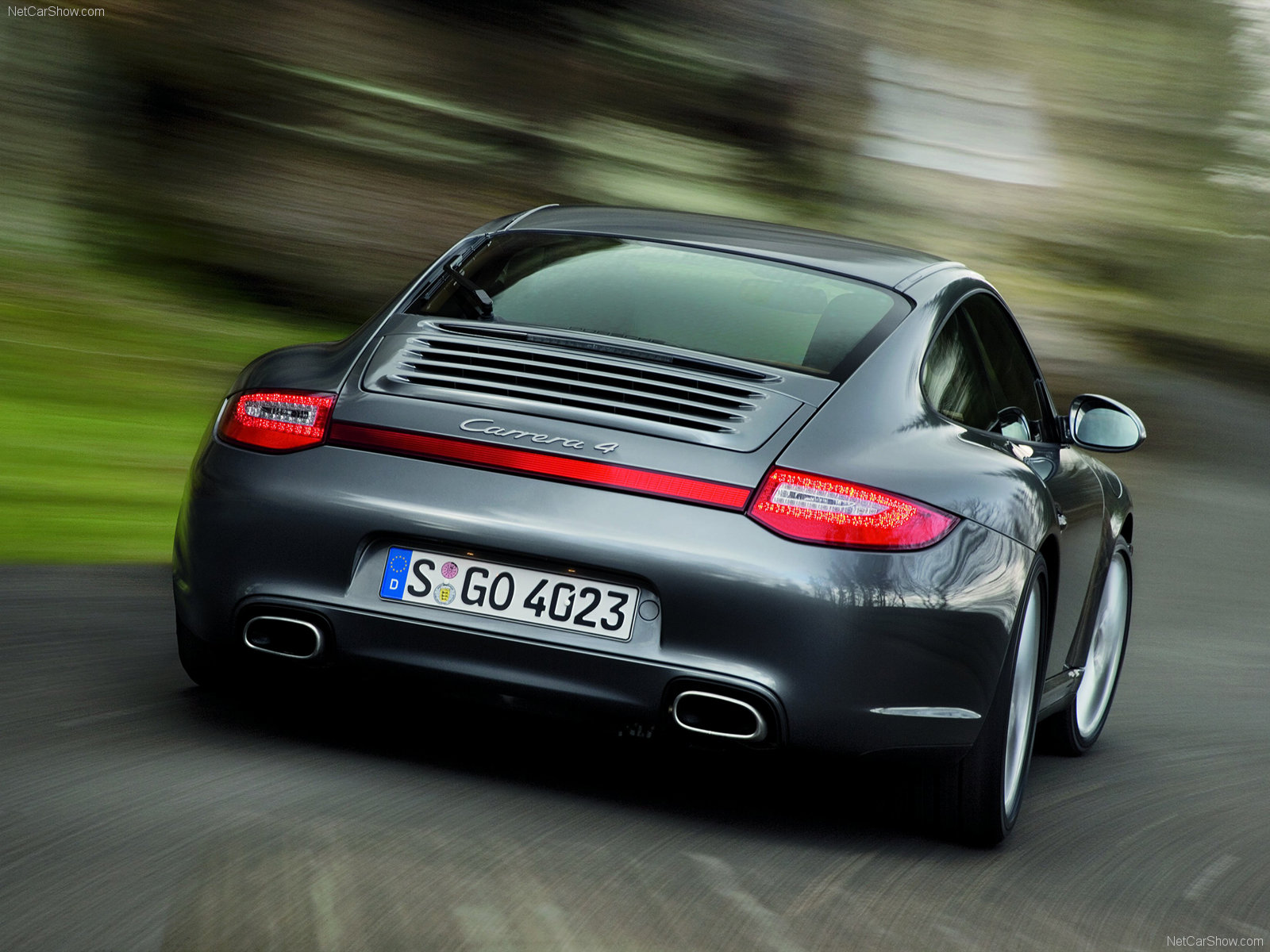 2009 Grey Porsche 911 Carrera 4 Wallpapers