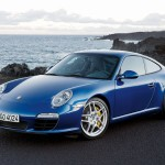2009 Blue Porsche 911 Carrera Wallpaper Front angle side view