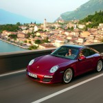 2009 Red Porsche 911 Targa 4 Wallpaper Front angle side view