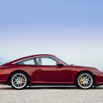 2009 Red Porsche 911 Targa 4 Wallpaper Side view