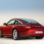 2009 Red Porsche 911 Targa 4 Wallpaper Rear angle side view