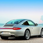 2009 Silver Porsche 911 Targa 4 Wallpaper Rear angle side view