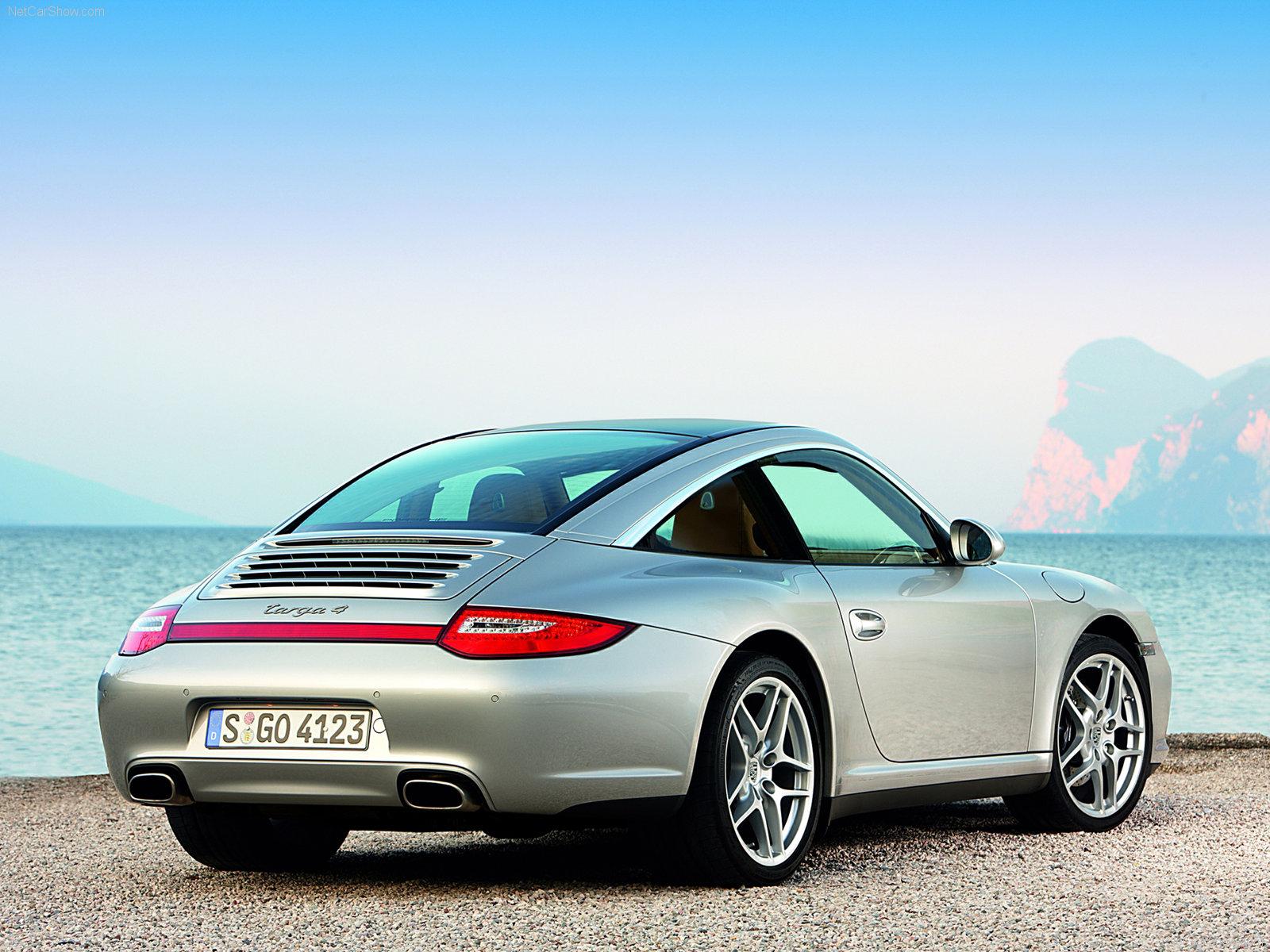 2009 Silver Porsche 911 Targa 4 Wallpapers