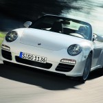 2009 White Porsche 911 Carrera 4 Cabriolet Wallpaper Front angle view
