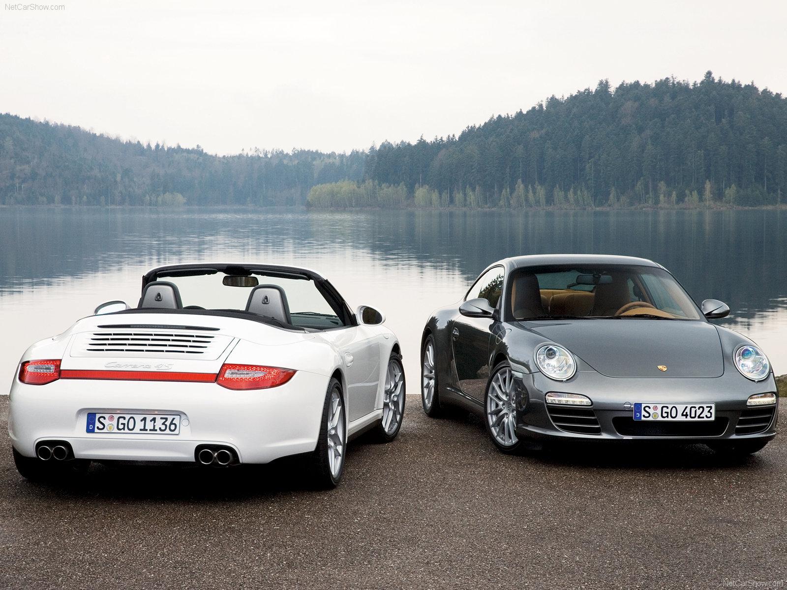 2009 white porsche 911 carrera 4 cabriolet wallpapers. Black Bedroom Furniture Sets. Home Design Ideas
