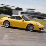 2009 Yellow Porsche 911 Carrera Wallpaper Side view