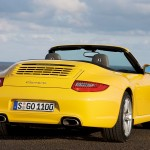 2009 Yellow Porsche 911 Carrera Wallpaper Rear angle view