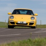 2009 Yellow Porsche 911 Carrera Wallpaper Front view