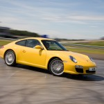 2009 Yellow Porsche 911 Carrera Wallpaper Front angle side view