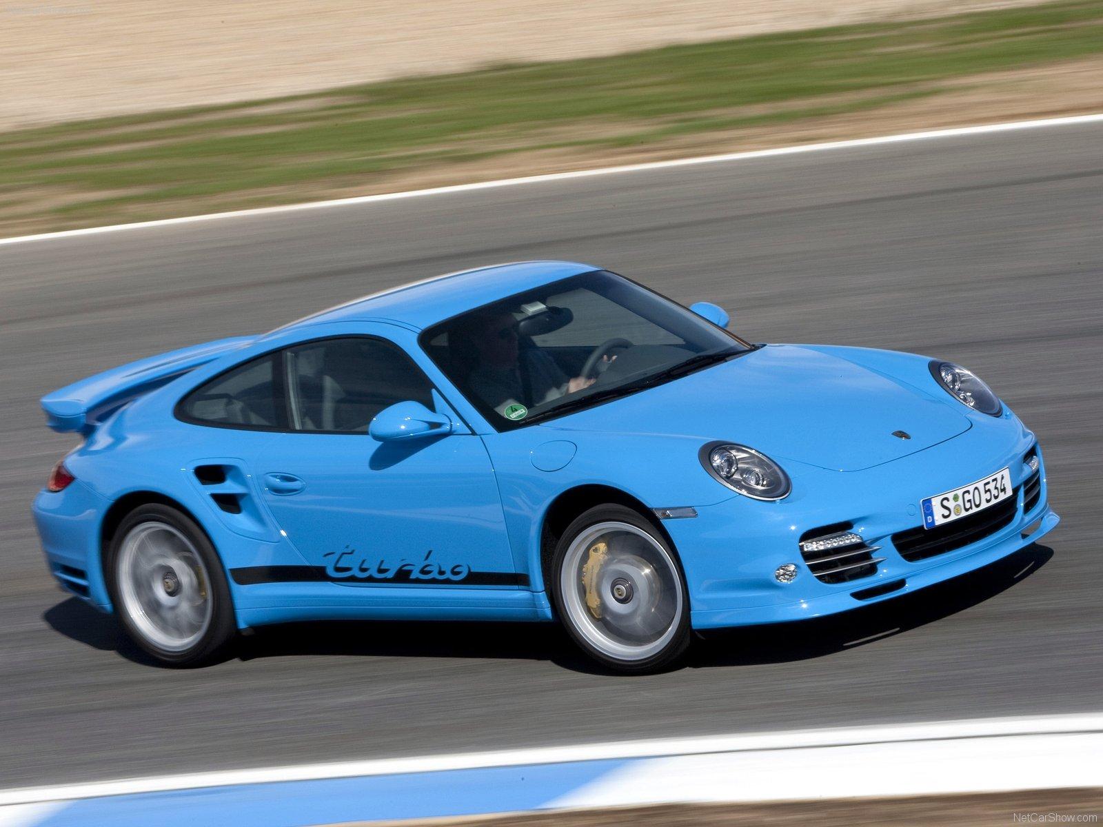 2010 Blue Porsche 911 Turbo Wallpapers